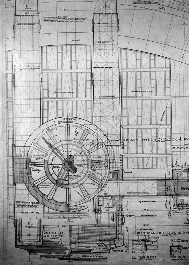 Union Terminal Cincinnati Ohio Blueprints of Clock
